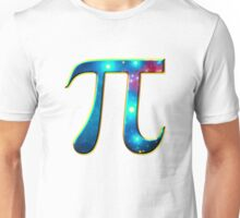 Pi π Galaxy Science Mathematics Math Irrational Number Sequence Unisex T-Shirt