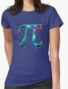 Pi π Galaxy Science Mathematics Math Irrational Number Sequence Womens Fitted T-Shirt