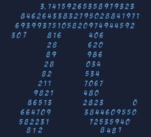 Pi π Science Mathematics Math Irrational Number Sequence One Piece - Short Sleeve
