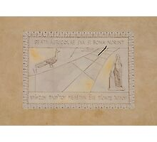 Sundial on Exterior of Friulian Farming Culture Museum Photographic Print