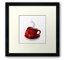 Red Cup Of Coffee Framed Print