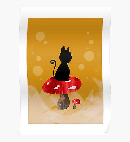 Cat-shroom Poster