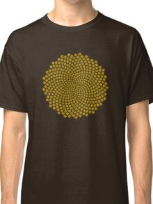 Sunflower Seed Fibonacci Spiral Golden Ratio Math Mathematics Geometry Classic T-Shirt