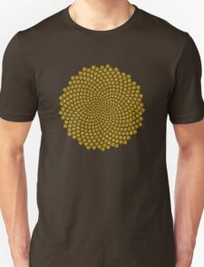 Sunflower Seed Fibonacci Spiral Golden Ratio Math Mathematics Geometry Unisex T-Shirt