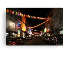 Chinatown in Singapore Canvas Print