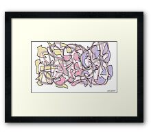 Jig Saw Puzzled Framed Print