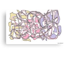 Jig Saw Puzzled Canvas Print