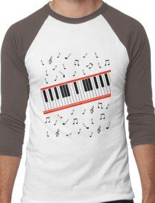 Beat It Piano Men's Baseball ¾ T-Shirt