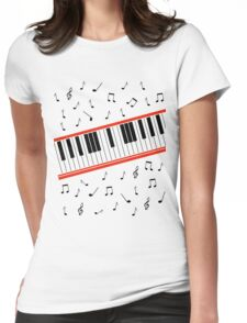 Beat It Piano Womens Fitted T-Shirt
