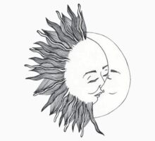 Sun and Moon Kissing by sadeelishad