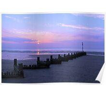 Purple haze sunset Poster