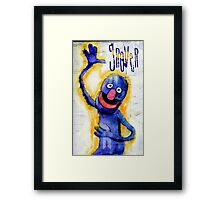I am grover Framed Print