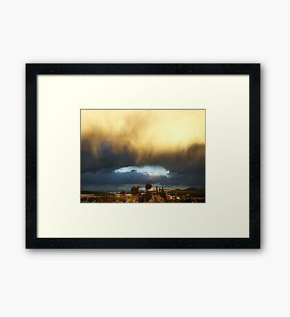 Sky Fall .. Framed Print