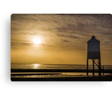 The Wooden Lighthouse at Sunset Canvas Print