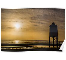 The Wooden Lighthouse at Sunset Poster