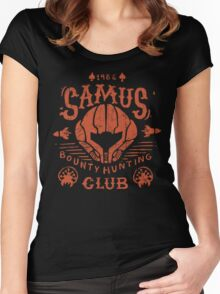 Samus Bounty Hunting Club Women's Fitted Scoop T-Shirt