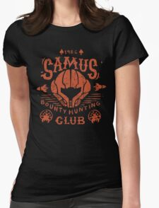 Samus Bounty Hunting Club Womens Fitted T-Shirt