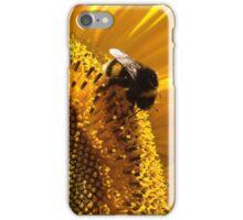 bumblebee sunbathing in a sunflower iPhone Case/Skin