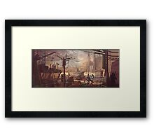 Mecha Wastes Framed Print