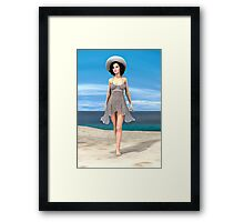Young Woman on the Beach Framed Print