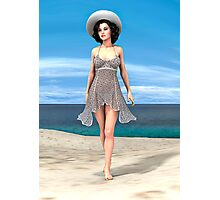 Young Woman on the Beach Photographic Print