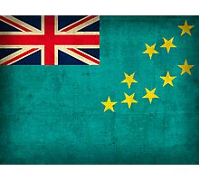 Tuvalu Flag Photographic Print