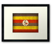 Uganda Flag Framed Print