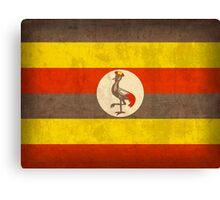 Uganda Flag Canvas Print