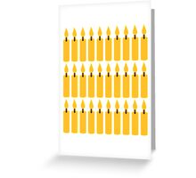 Candles 30 years kindling Greeting Card