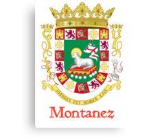 Montanez Shield of Puerto Rico Canvas Print