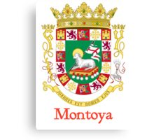 Montoya Shield of Puerto Rico Canvas Print
