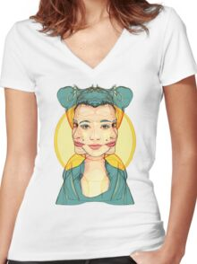 Self-conscious Women's Fitted V-Neck T-Shirt