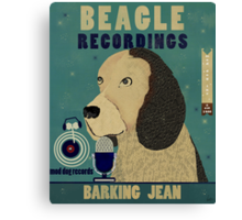 beagle recordings mod dog records Canvas Print