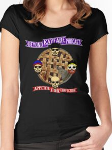 Appetite For Confection - Beyond Kayfabe Podcast Women's Fitted Scoop T-Shirt