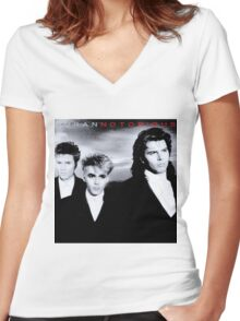 Duran Duran Notorious Album Vintage Women's Fitted V-Neck T-Shirt