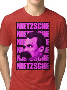 Nietzsche -  Face / Nietzsche Tri-blend T-Shirt