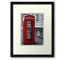 Westminster Phone Box Framed Print