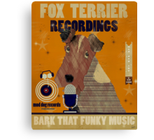 fox terrier recordings mod dog records Canvas Print