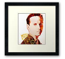 Miss me? - Jim Moriarty Framed Print