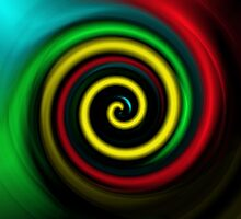 Swirling colours. by Robert Gipson
