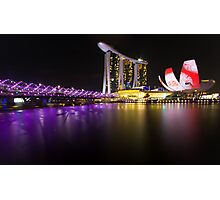 Singapore Light Art Photographic Print