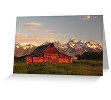 Mormon Barn at Sunrise Greeting Card