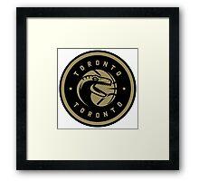 Dino Crest Gold Framed Print