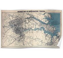 Civil War Maps 1138 Military map of south-eastern Virginia Poster