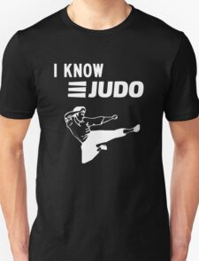 I Know Judo!!! [White Ink] T-Shirt
