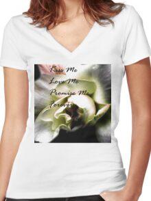 Forever Rose Women's Fitted V-Neck T-Shirt