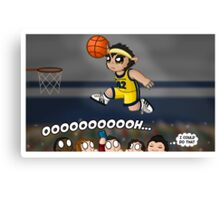 A Howling Good Dunk Canvas Print