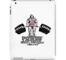 POWERLIFTING WORLD'S STRONGEST SPORT iPad Case/Skin