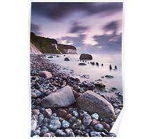Chalk Cliffs Twilight Poster