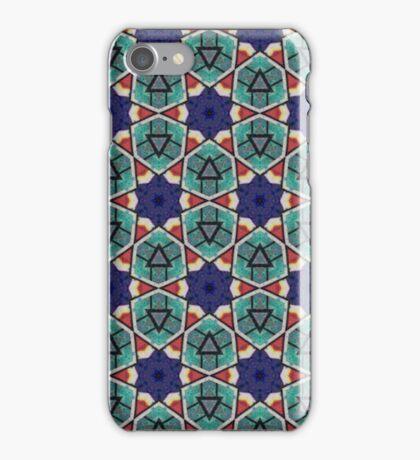 Kaleidoscopic Retro Stars iPhone Case/Skin